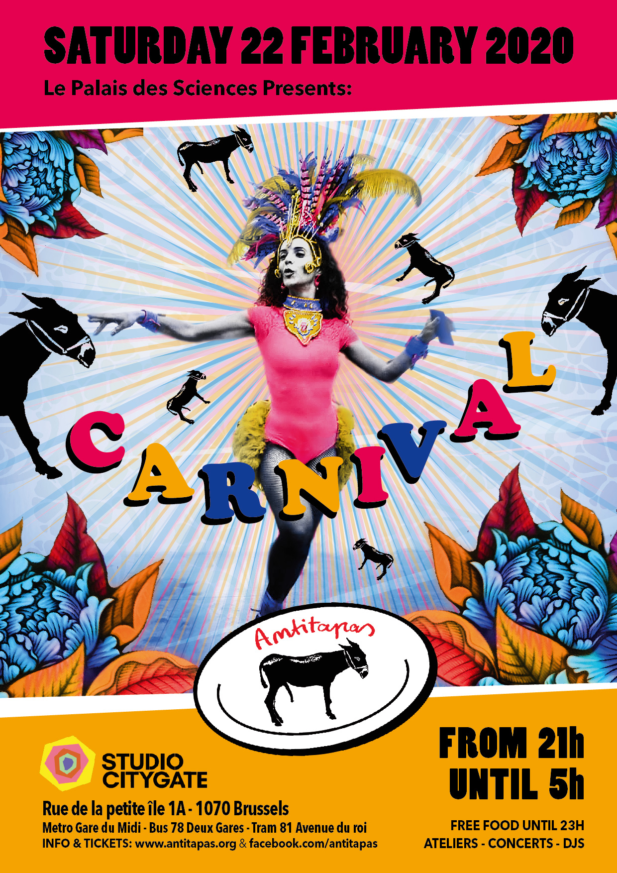 Flyer Antitapas Carnival Night 2020